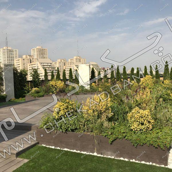 پروژه روف گاردن جناب اعتصامی-عکس پشت بام های زیبا