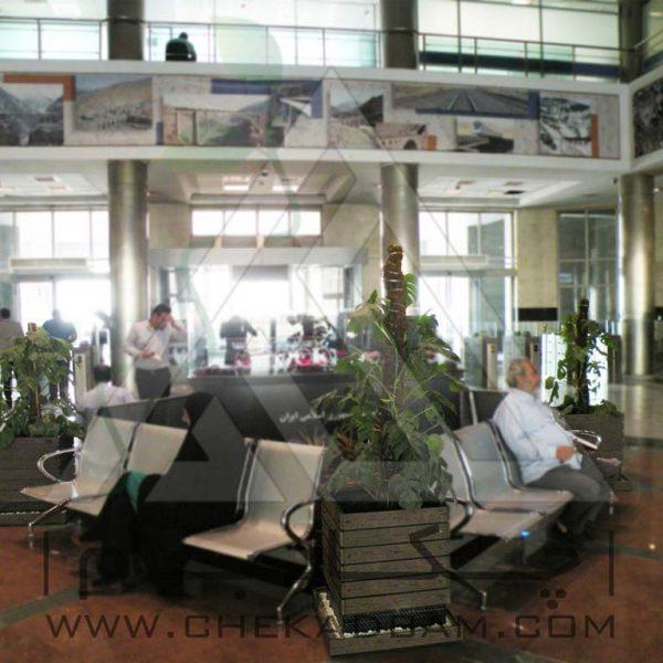 پروژه معماری داخلی سبز بانک صادرات ۱۳۹۴