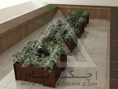 طراحی سه بعدی معماری داخلی سبز