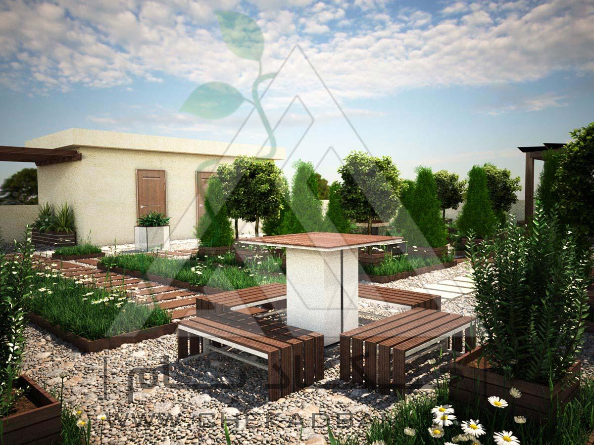طراحی سه بعدی بام سبز