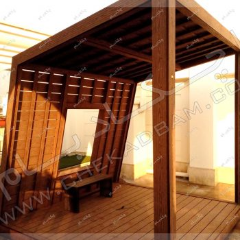 انواع آلاچیق روی پشت بام -پروژه آلاچیق آقای پورشریف ۱۳۹۶