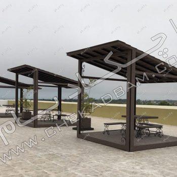 عکس آلاچیق چوبی - پروژه آلاچیق اکسین دریاسر ۱۳۹۶