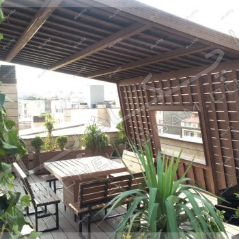 عکس آلاچیق چوبی ،طرح آلاچیق پشت بام ، پروژه آلاچیق آقای هندی سال ۱۳۹۶