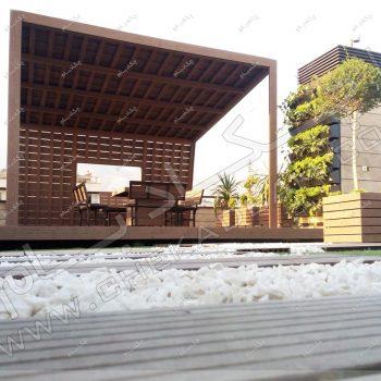 طرح آلاچیق پشت بام ،پروژه آلاچیق آقای هندی سال ۱۳۹۶