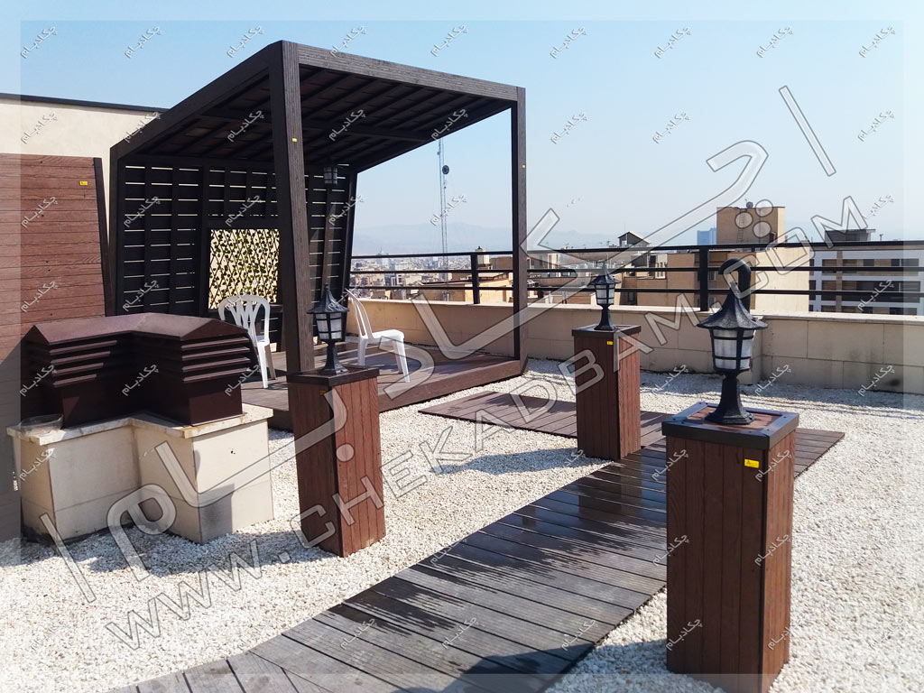 پروژه آلاچیق چوبی و فلزی