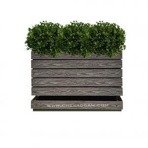 فلاور باکس چوبی
