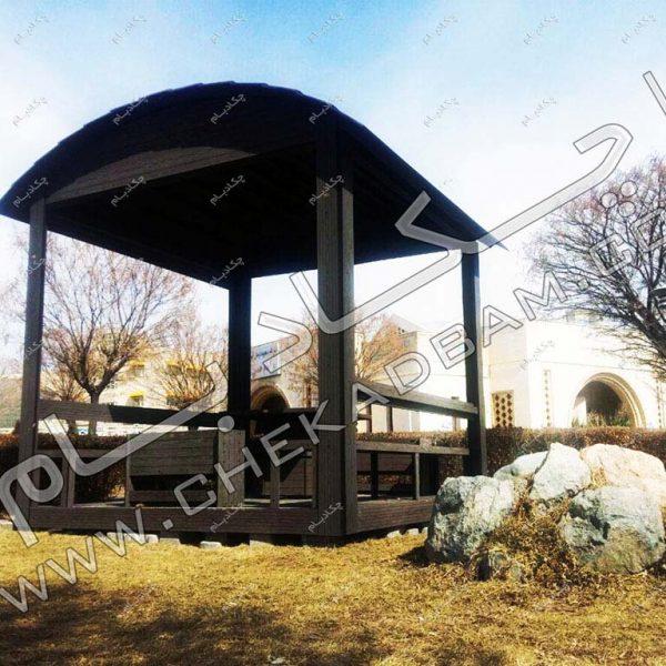 پروژه آلاچیق بیمارستان امام حسین زنجان 1395