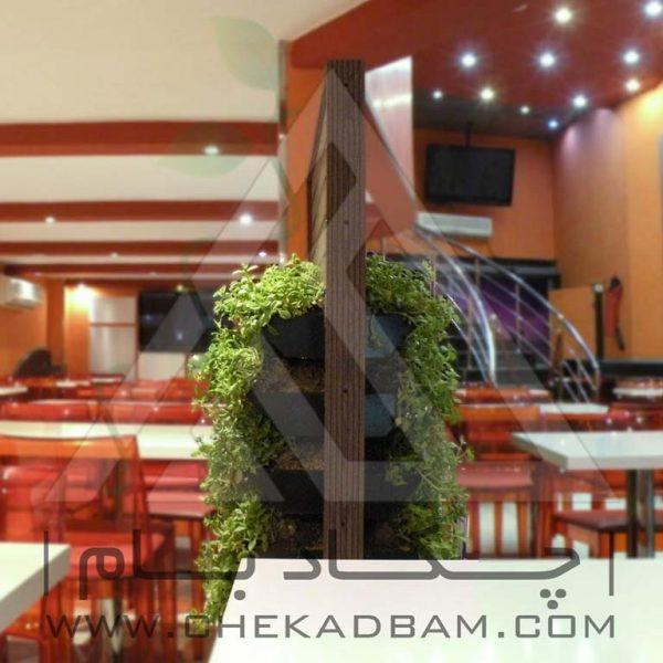 پروژه معماری داخلی سبز رستوران هیوا ۱۳۹4