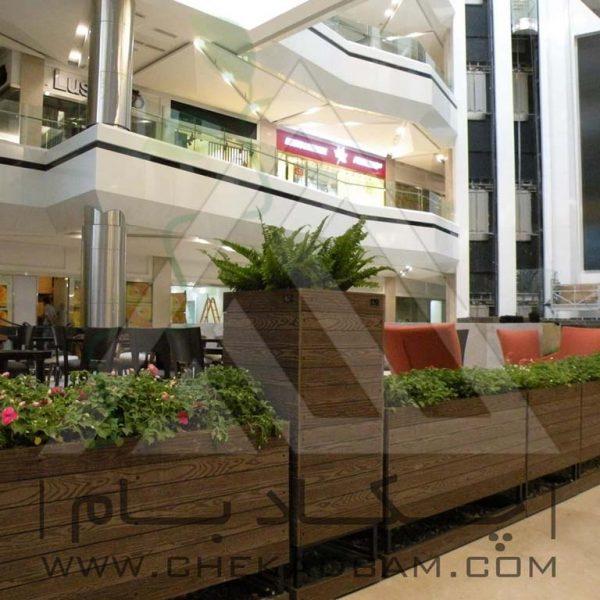 پروژه معماری داخلی سبز کافه فروشگاه کوروش ۱۳۹۴