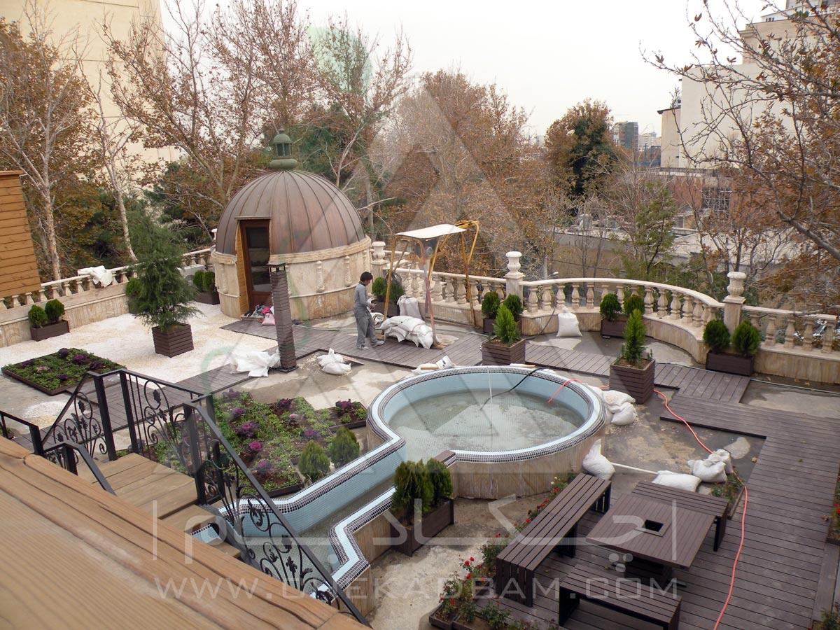 پروژه بام سبز زعفرانیه تهران 1393