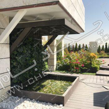 پروژه بام سبز (روف گاردن) شرکت چکادبام